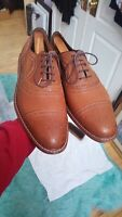Johnston Murphy J&M 1850 Premium Unlined Leather Walnut Tan Cap Toe Strand 12 M