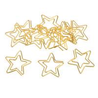 12 Stück  Büroklammer Sterne Design Motiv Heftklammern für Dekoration