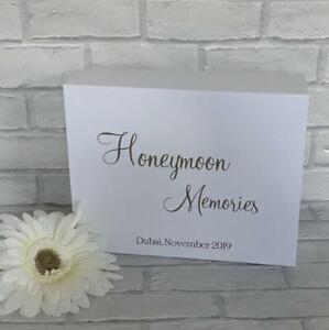 Personalised Honeymoon and Wedding Memories Keep Sake Gift Box