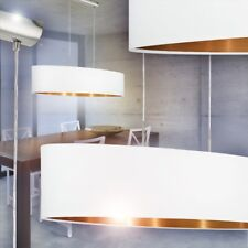Lampada soffitto Illuminazione Tessuto Bianco/Rame Sospensione Cucina Salotto