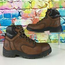 TIMBERLAND Pro Titan Safety Steel Toe Powerfit Brown Work Boots Women's 6.5W EUC