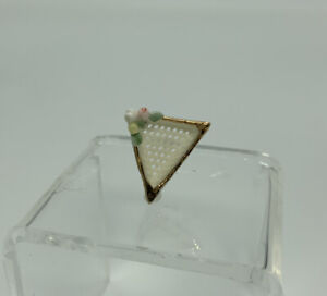 Dollhouse Miniature Artisan Signed Reticulated Dish