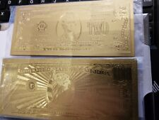 US bills $2 dollars rare and  $1 million bucks gold plated USA american layered