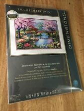"THE GOLD COLLECTION by DIMENSIONS ""Japanese Garden"" Counted Cross Stitch Kit New"