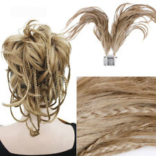 Fox Tail Hair Pieces Ponytail 2 Bendable Wire Updo Braid with Comb for Christmas