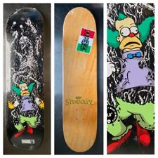 RARE THE SIMPSONS SPRINGFIELD MASSACRE KRUSTY CLOWN SKATEBOARD DECK ZERO supreme