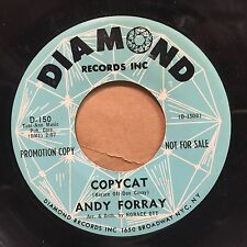 """Andy Forray – Monday (Is The Girl For Me) / Copycat VG++ Diamond CLEAR VINYL 7"""""""