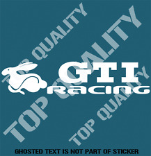 GTI RACING DECAL STICKER FOR VOLKSWAGEN GTI MOTORSPORT VEHICLE EDM STICKERS