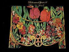 Rare Antique Art Nouveau Hand Painted Colorful Tulips Flowers Purse Handbag
