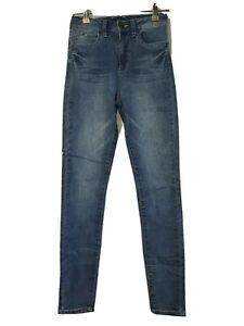 Fashion Nova High Waisted Skinny Classic Blue Jeans Size 5
