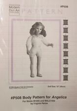 "Modern Doll Art Pattern #P508 - BODY PATTERN for ANGELICA - 19"" doll"
