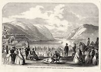 West Point Artillery Practice - Hudson River View - Prince of Wales 1860 Visit