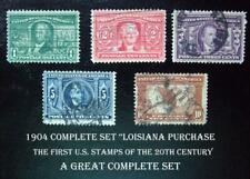 #323-27 – Complete Set, 1904 Louisiana Purchase, First US Stamps of 20th Century