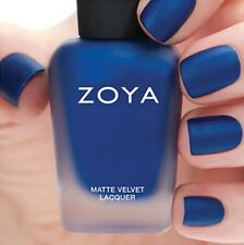 ZOYA ZP818 YVES MATTE VELVET Winter Holiday blue w/ pearl matte nail polish