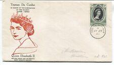 Tristan Da Cunha QEII 1953 Coronation cover