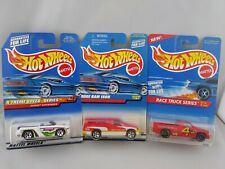 Lot Of 3 Hot Wheels Dodge Ram 1500 Red #797 & #380 White Sidewinder #965 Race