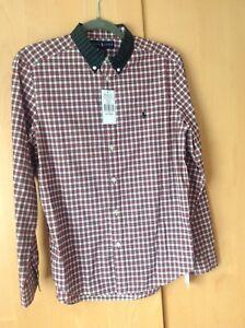 BNWT Ralph Lauren Boys Long Sleeve Shirt Age18/20 XL Check Tartan