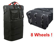 "36"" Black Rolling Expandable Duffle Bag Spinner Suitcase Luggage with 8 Wheels"