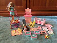 Mattel Baby Krissy and Barbie + Furniture