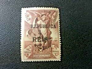 """Changed font of the letter """"S"""" on the stamp India Portuguese 1913"""