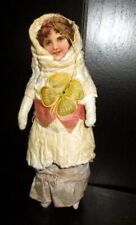 Old Cotton figurine-doll- /girl -Germany