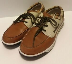 Timberland Mens Boat Shoes Leather Upper Brown & Tan  (Pre-Owned) Size 9 M