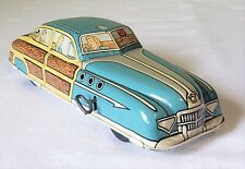 Early Marx Toys Wind-Up BUICK 'WOODY' SEDAN CAR Action Toy 40's V RARE MINT