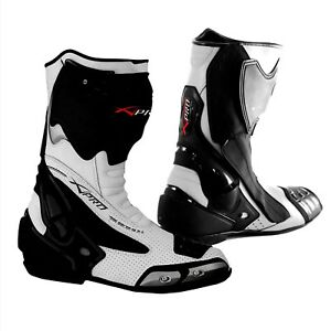 Racing Sport Track Boots Road runner Performance Mototcycle Motorbike  White 45