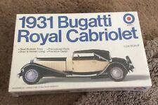 1981 Entex Model Kit 1931 Bugatti Royal Cabriolet 1/24 Scale Brand New Sealed