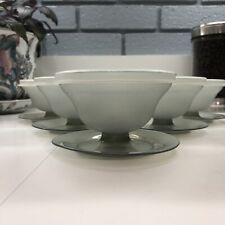 Set of 5 Vintage Smokey Gray Tupperware Dessert Pudding Jello Sherbet Cups