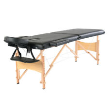 "84"" Fold Portable Massage  Table Facial Spa Beauty  Bed Tattoo Carry Case  Black"