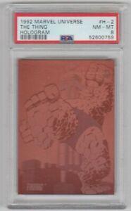1992 Impel Marvel Universe Series 3 Holograms Thing #H-2 PSA 8 NM-MT