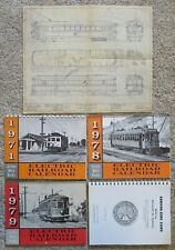 4 Electric Railroad Calendars, A Book & A Plan, Various dates, Softcovers