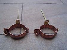 Fallrohrschelle Regenrohrschelle Kupfer Durchmesser ca.7,6cm 2 Stück