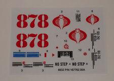 GI Joe Cobra Night Landing Sticker Decal Sheet