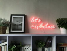 New Let's Misbehave Neon Art Sign Handmade Visual Artwork Wall Home Decor Light