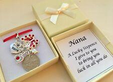 NAN / NANA OR GRAN LUCKY SIXPENCE CHARM, KEEPSAKE IN A LOVELY GIFT BOX