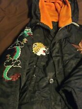 Vintage Korea 1974-75 Connecticut Infrantry Dmz Hooded Winter Coat W/ Dragons