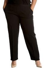 New Womens Plus Size Trousers Ladies Pants Self Stripe Pockets Formal Sale Long