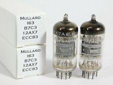 Mullard 12AX7 ECC83 Vintage 1967 Vacuum Tube Pair #1 (matched, TV-7D tested)