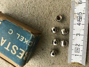 VELO ANCIEN lot de 6 butées de cable nickelé neuf PEUGEOT 1900 eroica