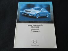 2003 Mercedes Benz CLK-class DEALER Intro Catalog CLK55 AMG CLK500 320 Brochure