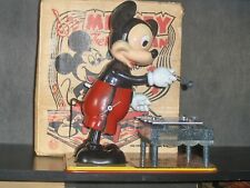 1950's US Made Marx Mickey Mouse The Musician Xylophone Player Wind Up Toy NoRes