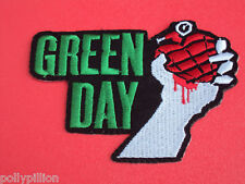 GREEN DAY GRENADE FIST LOGO PUNK ROCK SEW/IRON ON PATCH