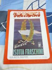 MOTONAUTICA VELA E MOTORE N. 8 AGOSTO 1941