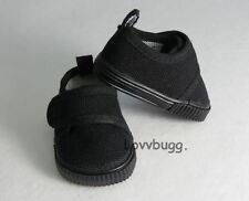 All Black Sneakers for 18 inch Doll Shoes American Girl or Boy Doll Most Variety