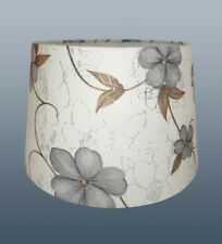 "11"" LAURA EMPIRE DRUM SHADE IN GREY + CREAM FOR CEILING & TABLE LAMP USE"