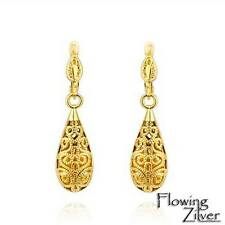 New Antique Style Stunning 18K GOLD Filled Filigree Drop Earrings VINTAGE Look