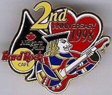 Hard Rock Cafe NIAGARA FALLS CANADA 1998 2nd Anniversary PIN - HRC Catalog #6693