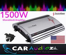 Precision Power S1500.1 Mono Amplificador de coche Monoblock Amplificador De Gran Potencia De Calidad Superior